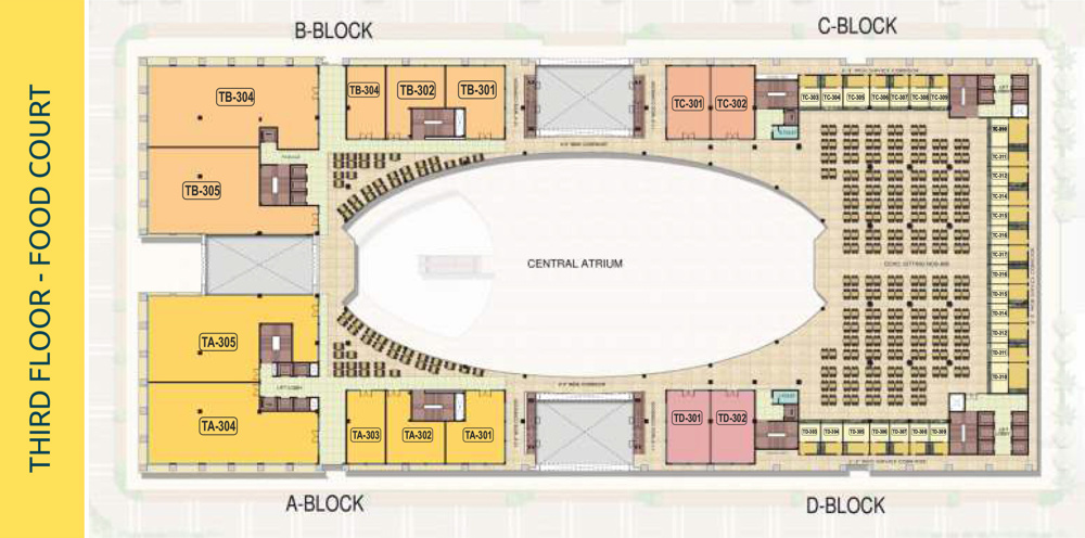PKS Town Central Third Floor plan