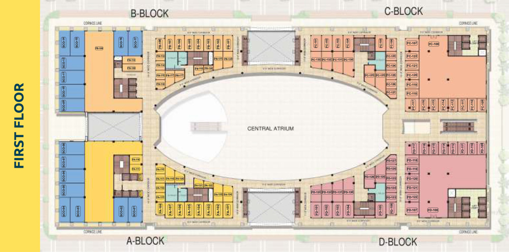 PKS Town Central First Floor plan