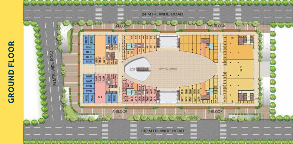 PKS Town Central Ground Floor plan