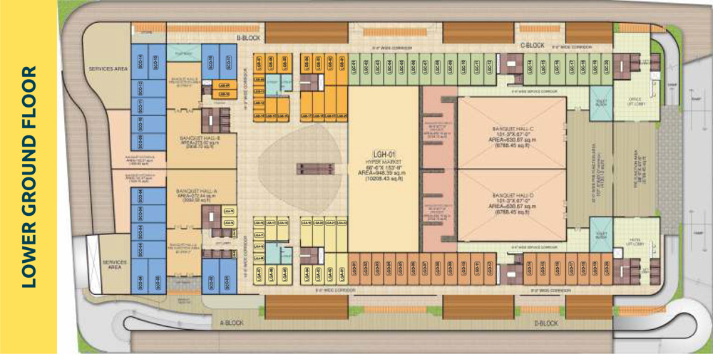 PKS Town Central Lower Ground Floor plan